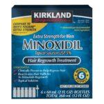Minoxidil Original Importado Kirkland 5% 06 Frascos | 01 Caixa Fechada | FRETE GRÁTIS